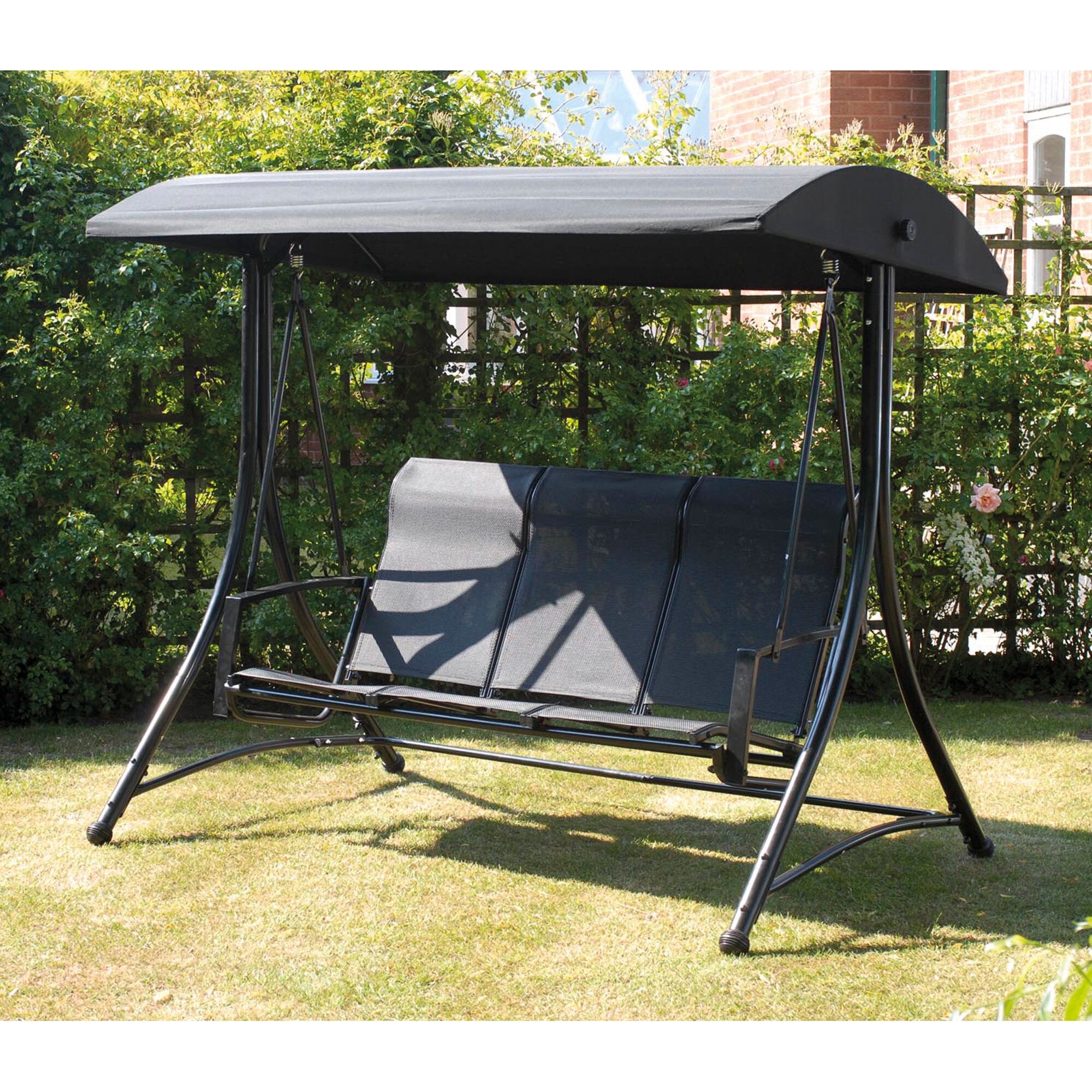 Burnstad Porch Swing With Stand Regarding Outdoor Pvc Coated Polyester Porch Swings With Stand (View 18 of 25)