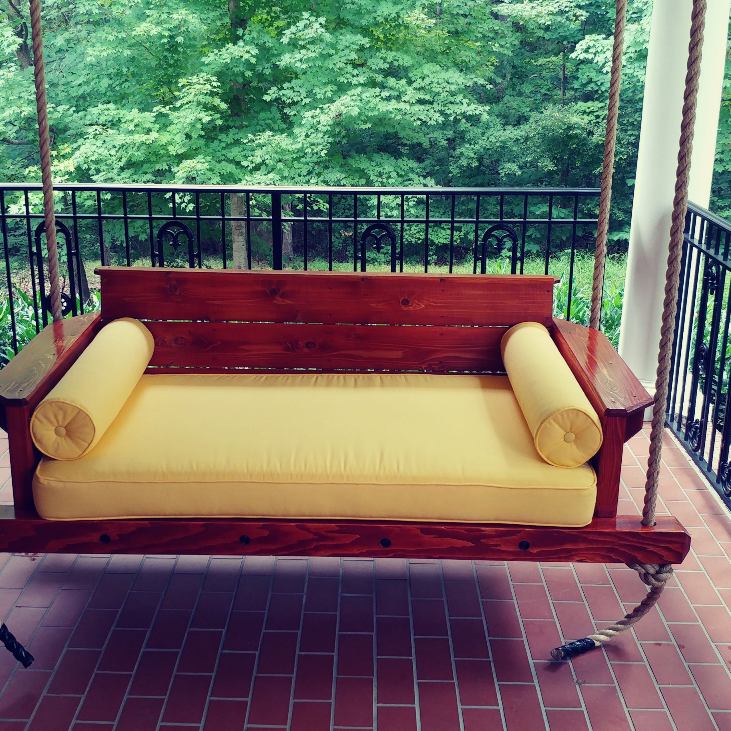 Buy A Hand Made Cedar Porch Swing, Made To Order From With Nautical Porch Swings (View 12 of 25)