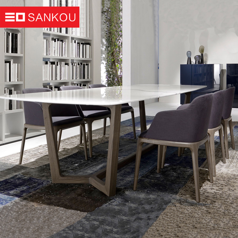Buy Family Of Three Scandinavian Modern Rectangular Dining Intended For Contemporary Rectangular Dining Tables (View 13 of 25)