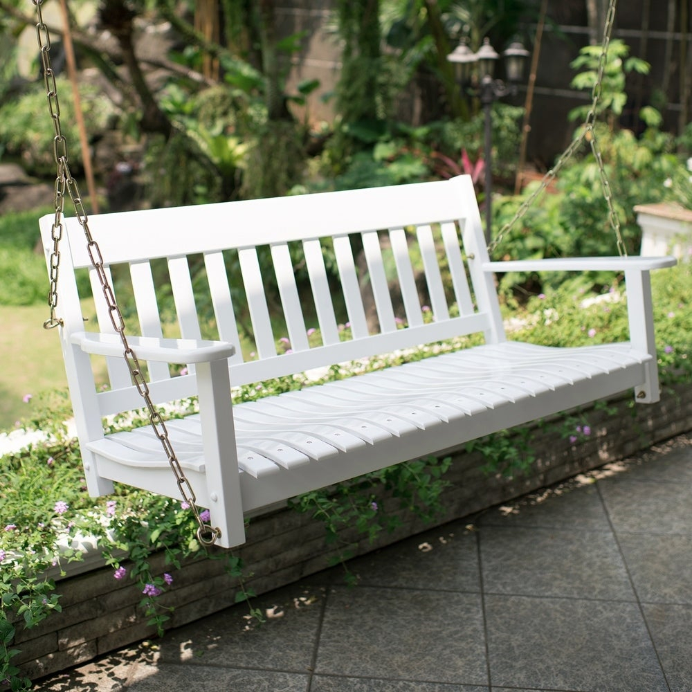 Buy Hammocks & Porch Swings Online At Overstock | Our Best Within 2 Person White Wood Outdoor Swings (View 15 of 25)