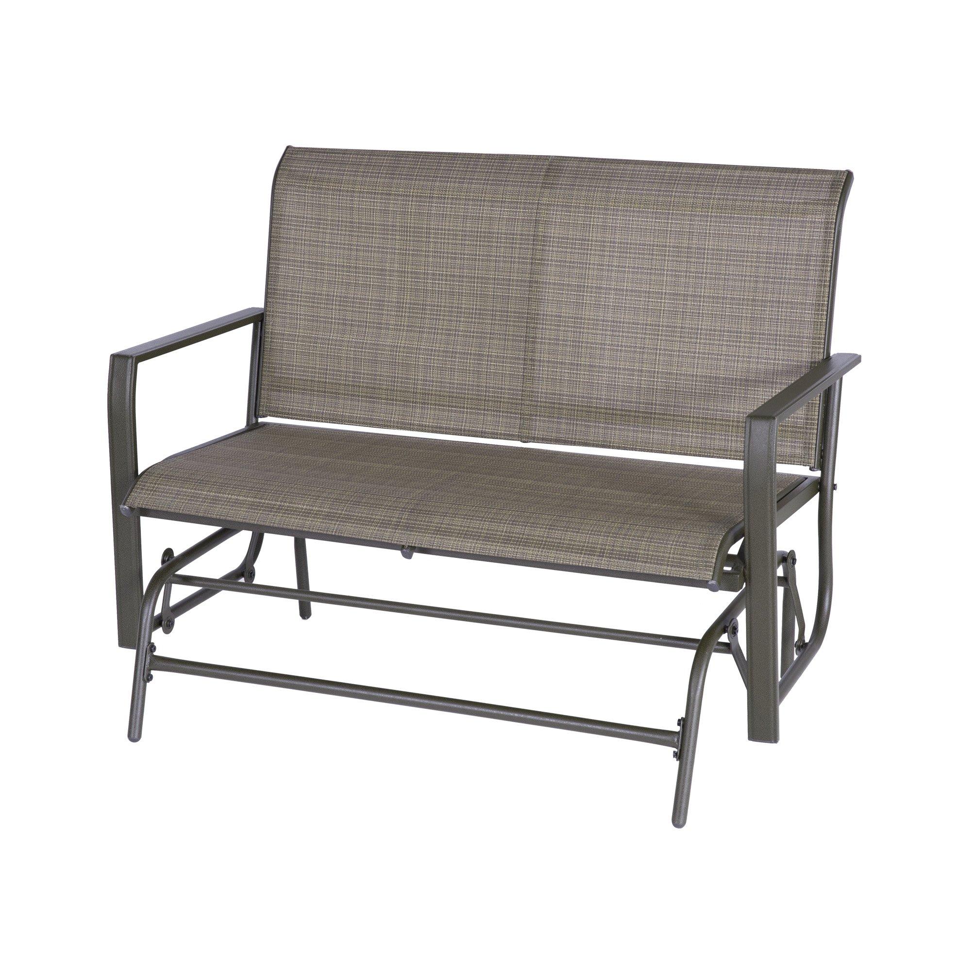 Buy Outdoor Patio Leisure Swing Rocker Glider Bench Loveseat For Outdoor Patio Swing Glider Benches (View 12 of 25)