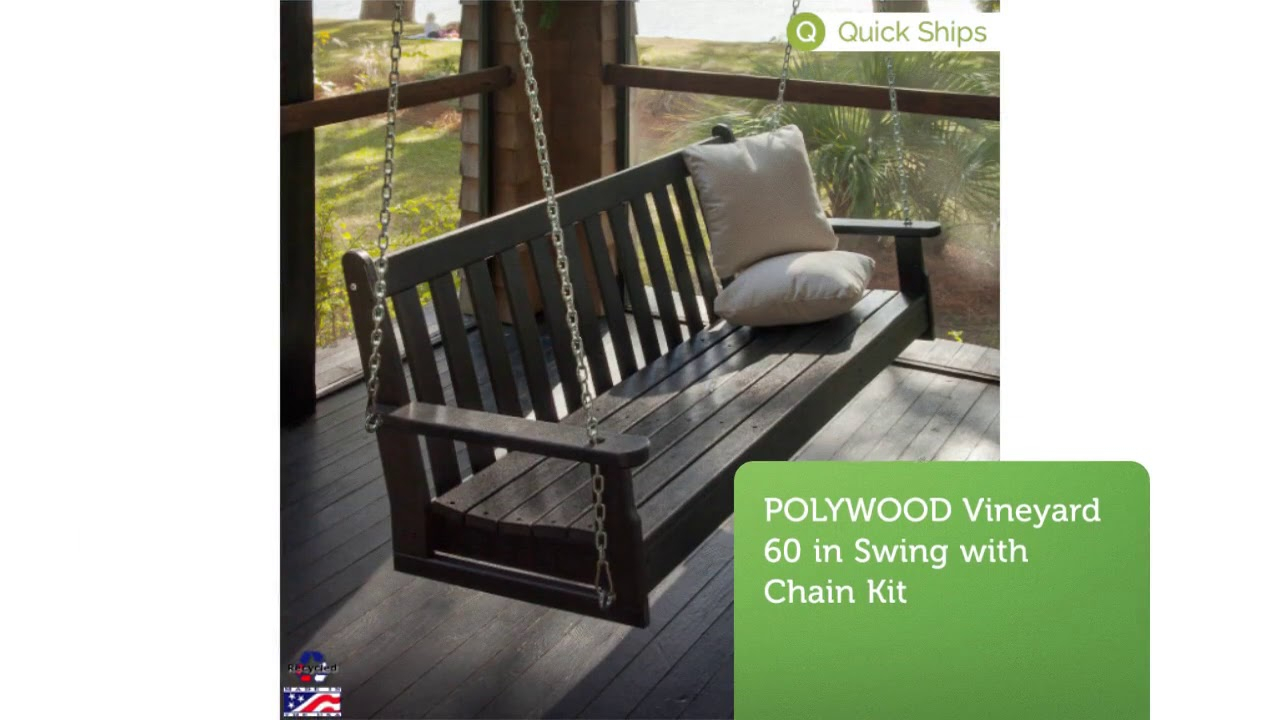 Buy Polywood Porch Swings At Polywood Furniture | 877 876 5996 Within Vineyard Porch Swings (Image 2 of 25)