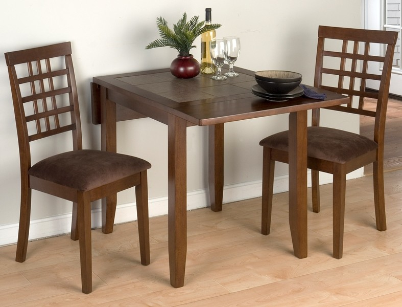 Caleb 3 Piece Drop Leaf Table Set – Eaton Hometowne Inside Transitional 3 Piece Drop Leaf Casual Dining Tables Set (View 11 of 25)