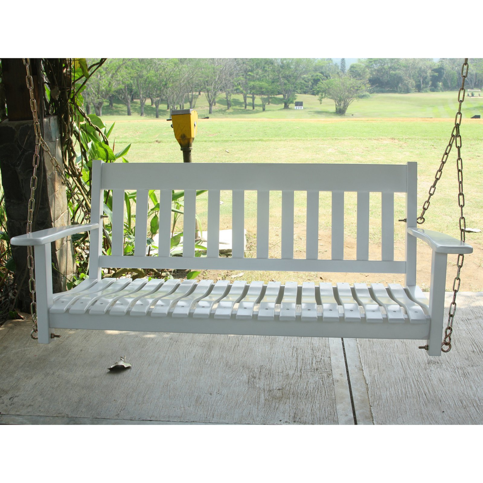 Cambridge Casual 52 In. All Weather Wood Porch Swing Regarding CasualThames White Wood Porch Swings (Photo 11 of 25)