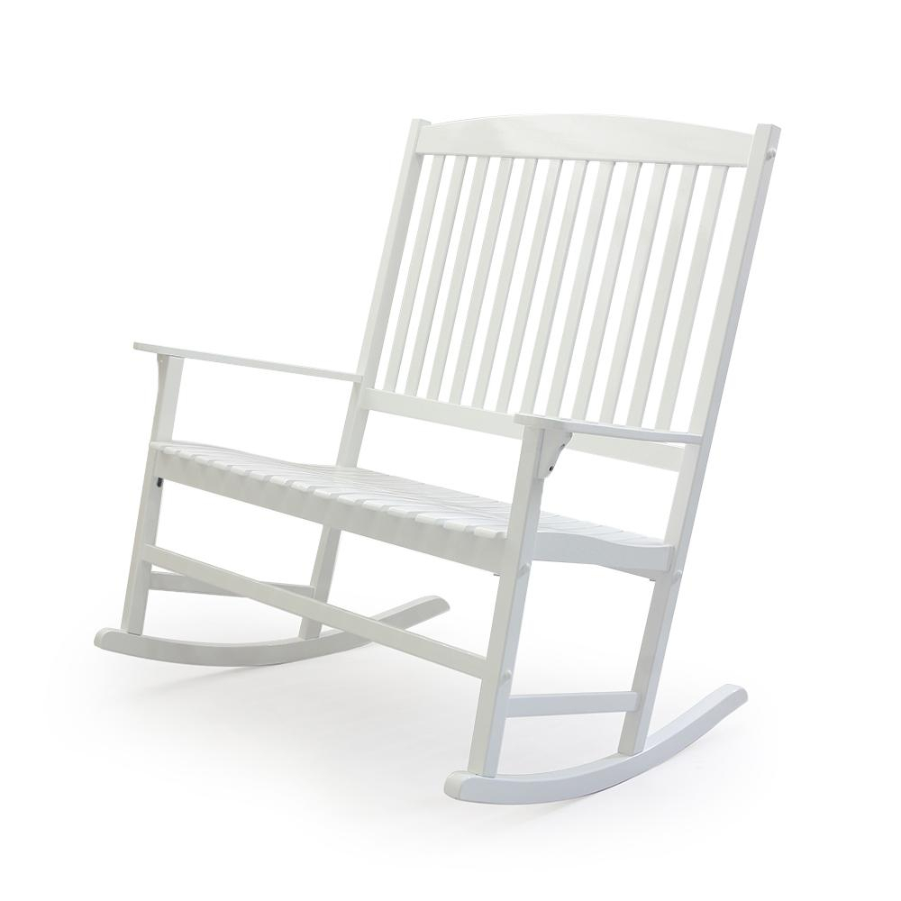 Cambridge Casual Thames White Wood Outdoor Rocking Chair Within Casual Thames White Wood Porch Swings (Image 10 of 25)
