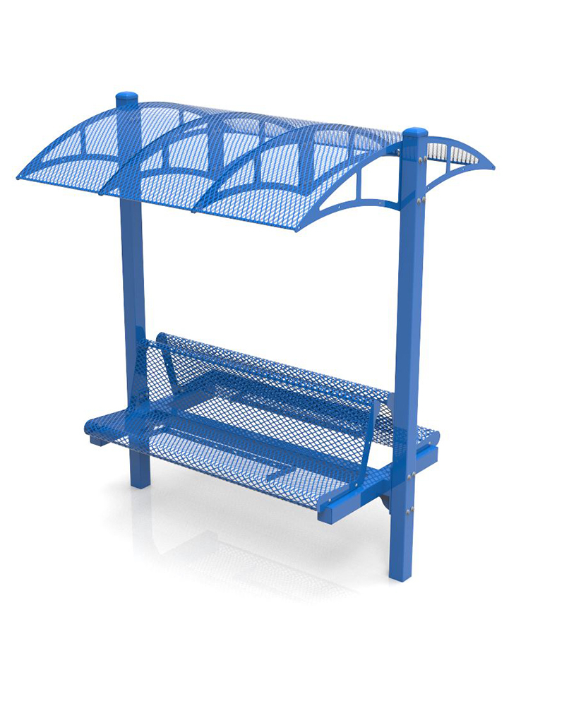 Canopy Bench – 6Ft – Double Sided – Powder Coated Frame Regarding Metal Powder Coat Double Seat Glider Benches (View 20 of 25)