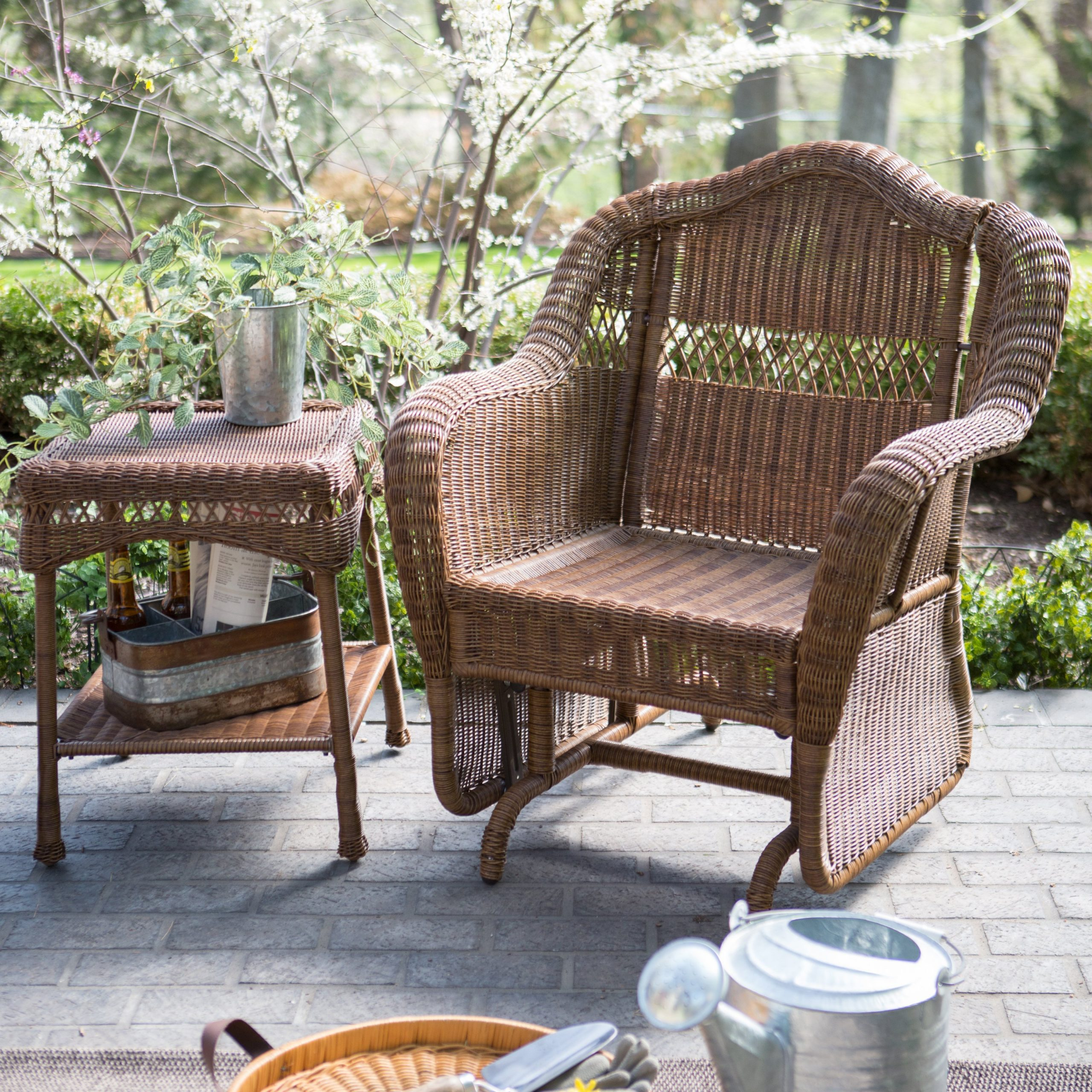 Canopy Double Vintage Bates Chairs Gar Swing Replacement Set With Indoor/outdoor Double Glider Benches (View 23 of 25)