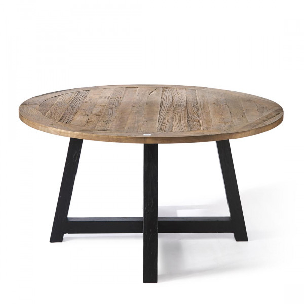 Canyamel Dining Table 140 Cm Diameter, Black Legs – Dining Intended For Dining Tables With Black U Legs (View 17 of 25)