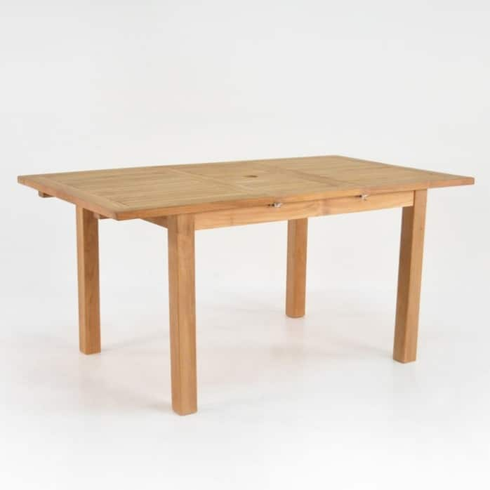 Capri Rectangle Teak Extension Outdoor Dining Table For Extension Dining Tables (View 15 of 25)