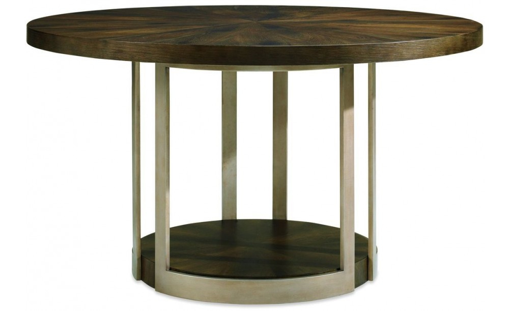 Caracole Modern Artisans Gather Round Dining Table, Dark Fumed Oak Throughout Fumed Oak Dining Tables (View 11 of 25)