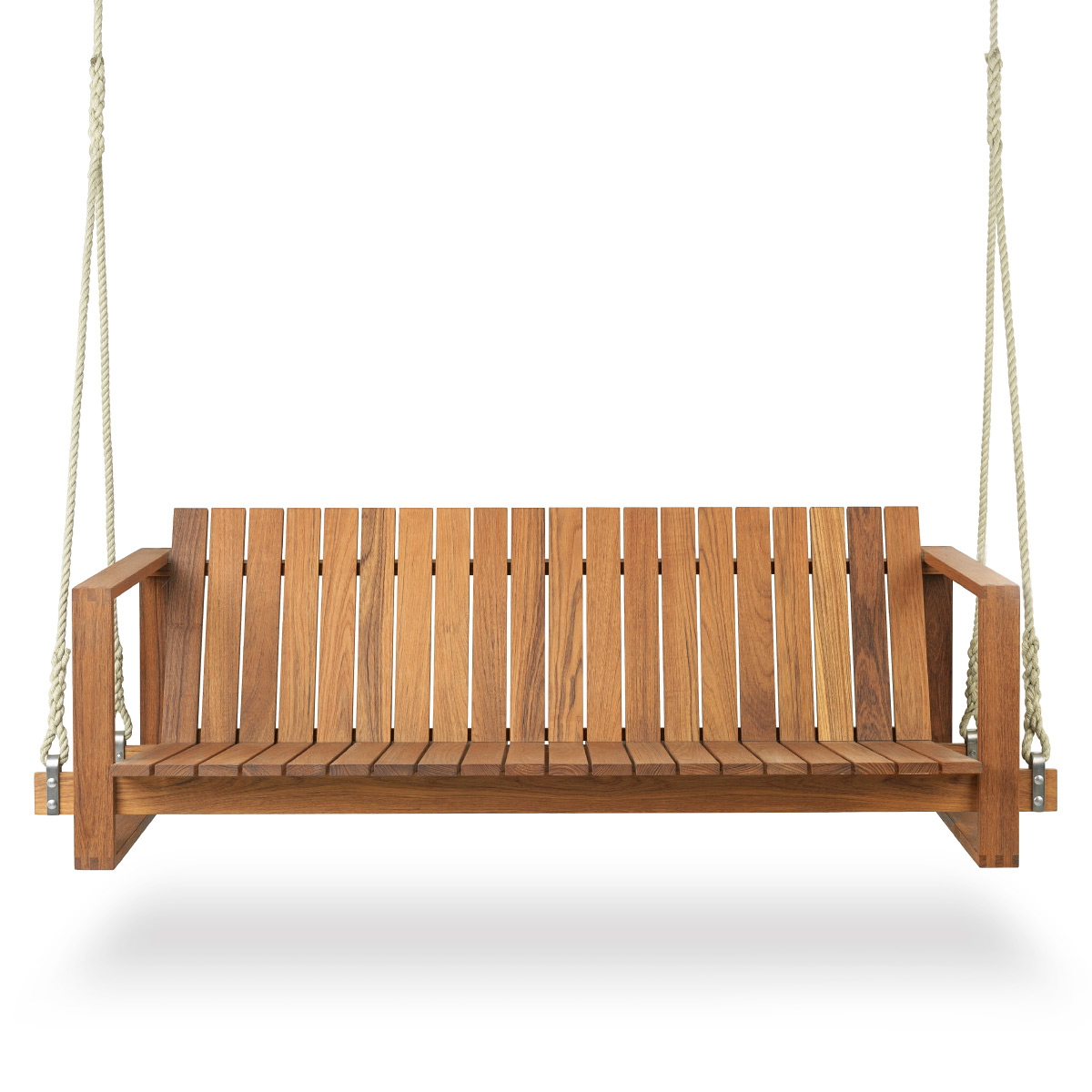 Carl Hansen And Son Bk13 Swing Sofa, Teak Oil With Regard To 2 Person Light Teak Oil Wood Outdoor Swings (View 4 of 25)