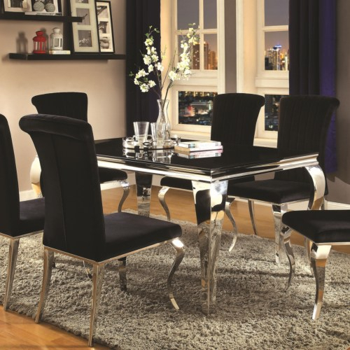 Carone Contemporary Rectangular Dining Table Throughout Contemporary Rectangular Dining Tables (View 14 of 25)