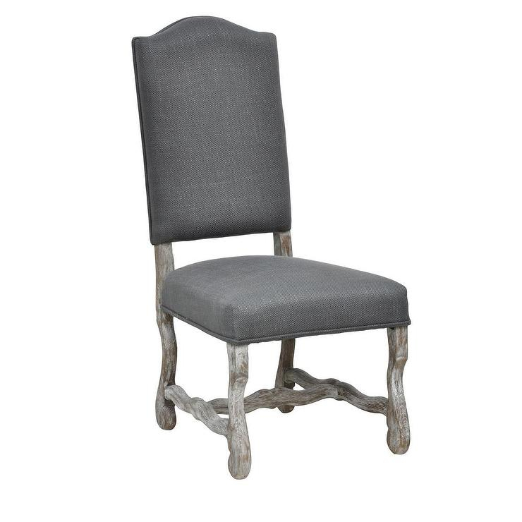 Casper Distressed Grey Oak Side Chair With Distressed Grey Finish Wood Classic Design Dining Tables (Image 5 of 25)
