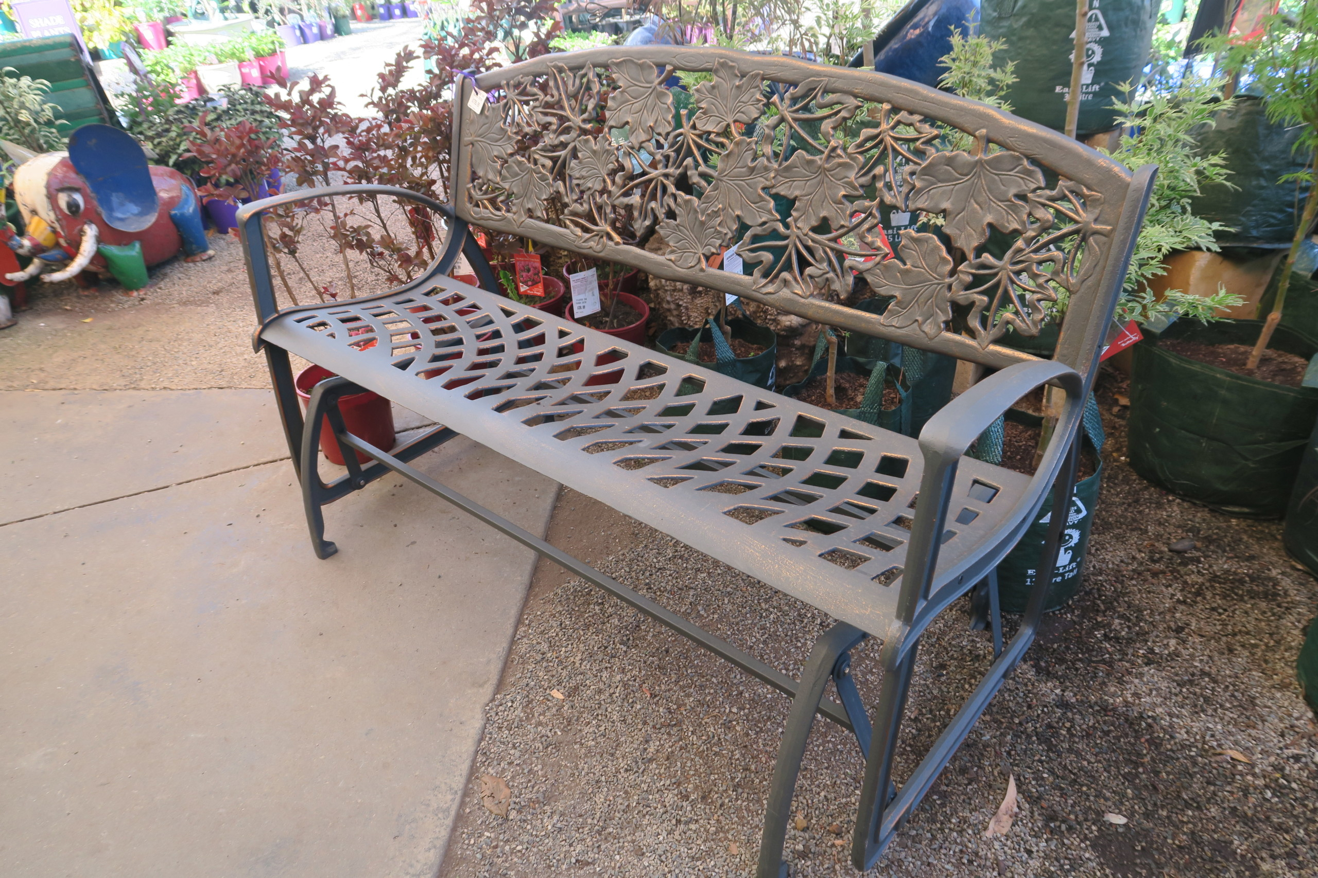 Cast Iron Glider Bench Pertaining To Rocking Glider Benches (View 21 of 25)
