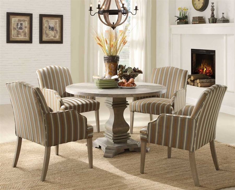 Casual Round Dining Table And Chairs Sets Height Room Regarding Transitional Antique Walnut Drop Leaf Casual Dining Tables (View 17 of 25)