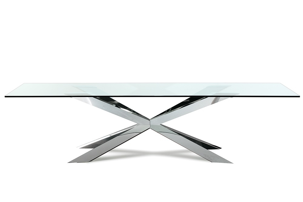 Cattelan Italia – Spyder Rectangular Glass Dining Table Within Steel And Glass Rectangle Dining Tables (View 7 of 25)
