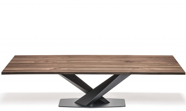 Cattelan Italia Stratos Wood – Dining Table With Black Legs & Walnut Top With Regard To Dining Tables With Black U Legs (View 4 of 25)