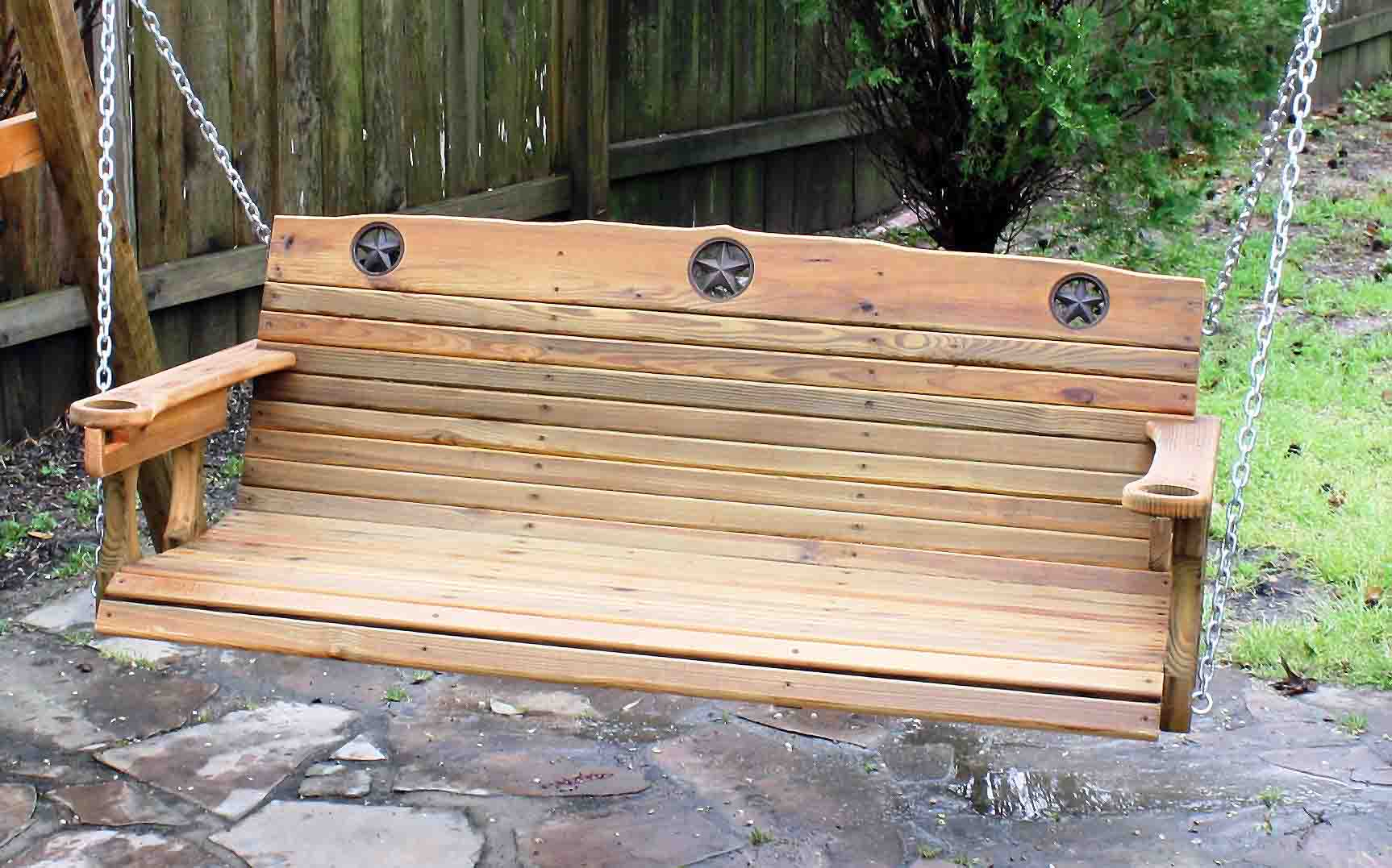 Cedar Creek Woodshop | Porch Swing | Patio Swing | Picnic With Regard To Porch Swings With Chain (View 21 of 25)