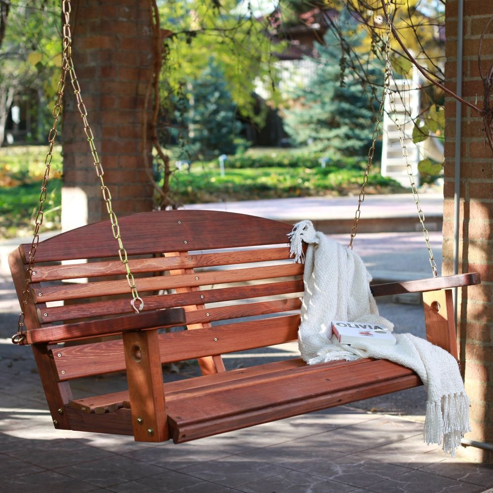 Cedar Porch Swing Amish Made Outdoor Furniture Home Decor 5 Regarding 5 Ft Cedar Swings With Springs (View 5 of 25)