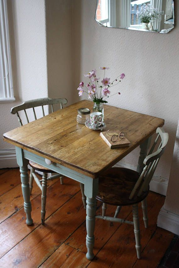 Characterful Rustic Vintage French Kitchen Table With In Rustic Pine Small Dining Tables (View 2 of 25)