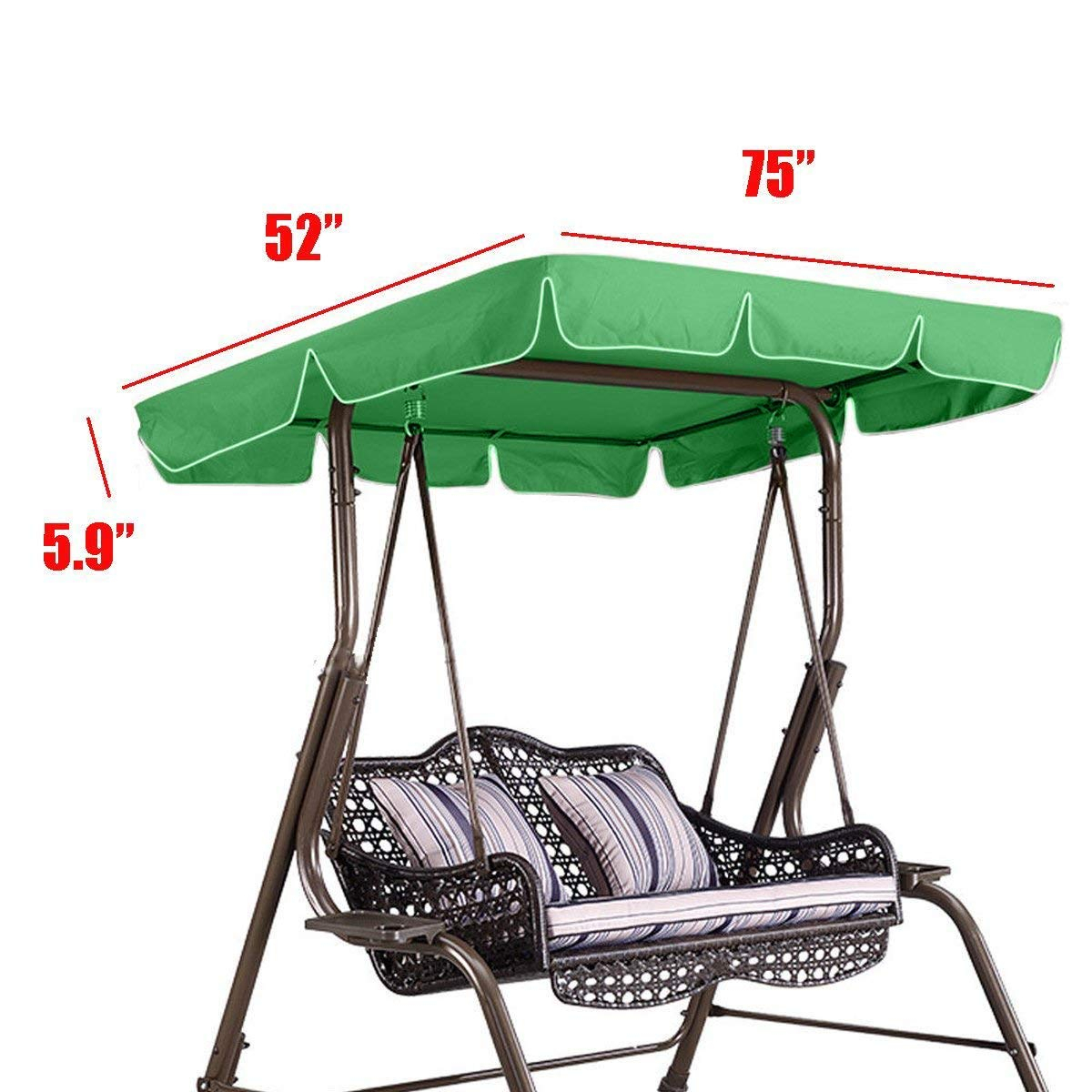 Cheap Canopy For Porch Swing, Find Canopy For Porch Swing For 2 Person Adjustable Tilt Canopy Patio Loveseat Porch Swings (View 18 of 25)