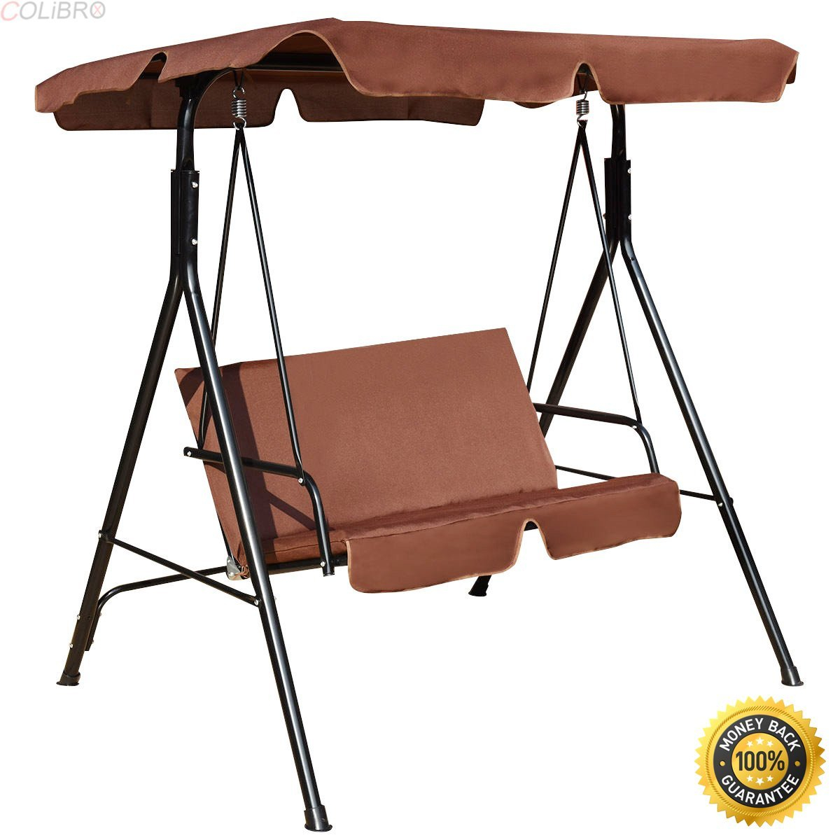 Cheap Lowes 3 Person Swing, Find Lowes 3 Person Swing Deals With Regard To 3 Seats Patio Canopy Swing Gliders Hammock Cushioned Steel Frame (Image 4 of 25)
