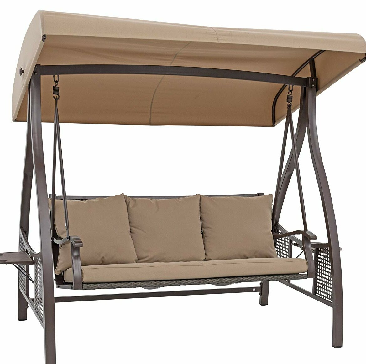 Chenault Outdoor Canopy Hammock Porch Swing With Stand Within Outdoor Canopy Hammock Porch Swings With Stand (View 2 of 25)