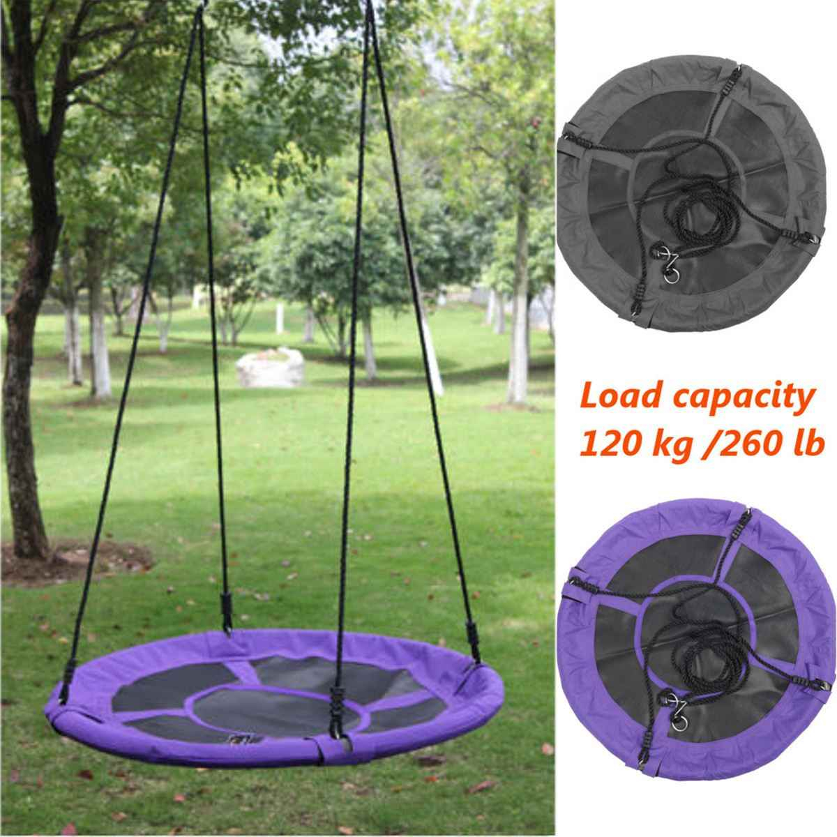 Children Round Nest Nest Swing Indoor And Outdoor Hanger In Nest Swings With Adjustable Ropes (View 23 of 25)
