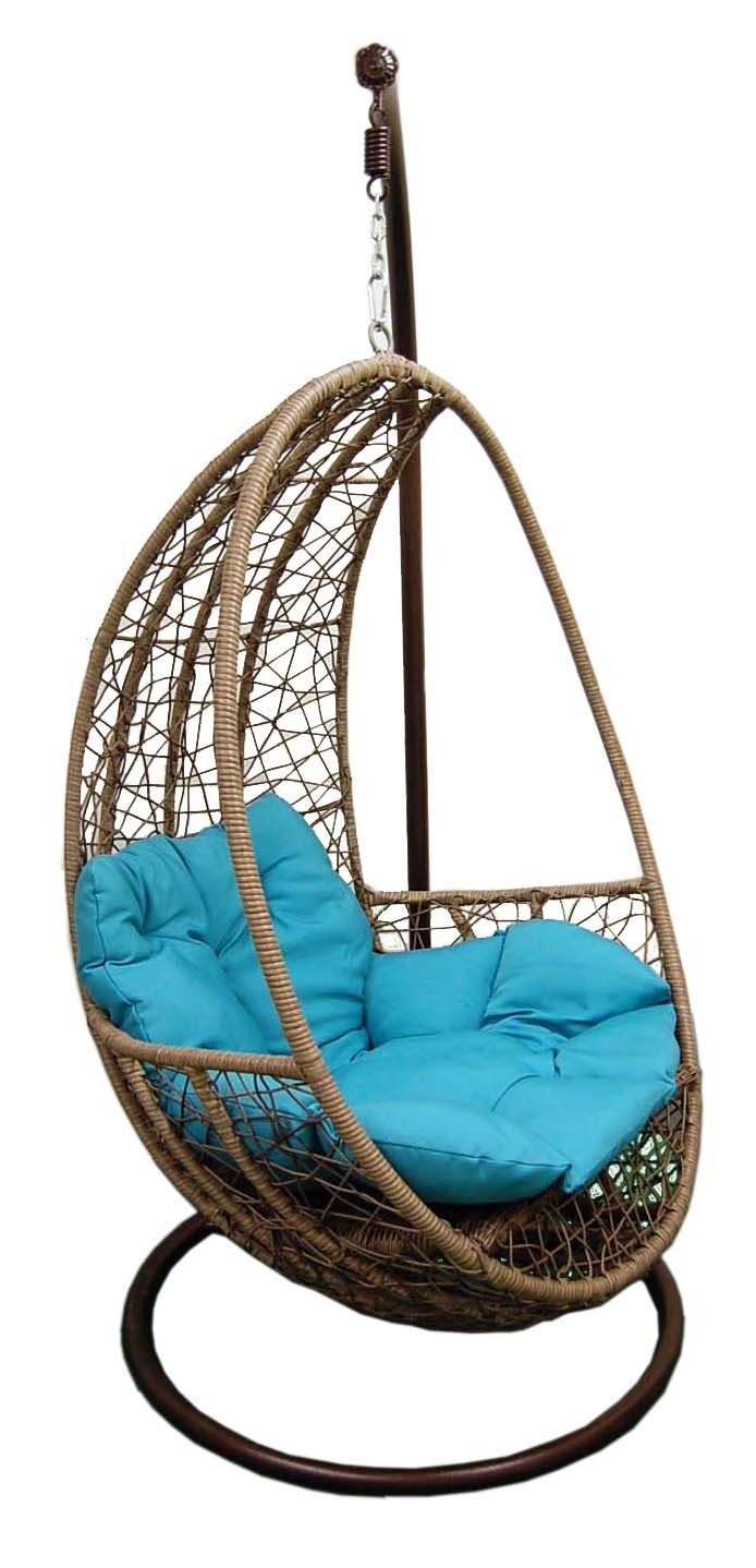 China Hanging Tear Drop Resin Wicker Swing Chair Intended For Outdoor Wicker Plastic Tear Porch Swings With Stand (View 15 of 25)