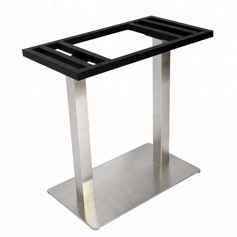 China Manufacturer Provide Rectangle Square Frame Brushed Stainless Steel Table Base – Buy Brushed Nickel Table Base,stainless Steel Dining Table Intended For Dining Tables With Brushed Stainless Steel Frame (View 7 of 25)