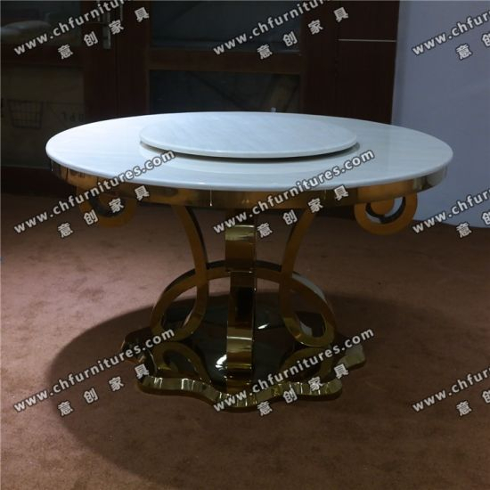 China Marble Or Tempered Glass Stainless Steel Chrome Silver Intended For Chrome Dining Tables With Tempered Glass (View 16 of 25)