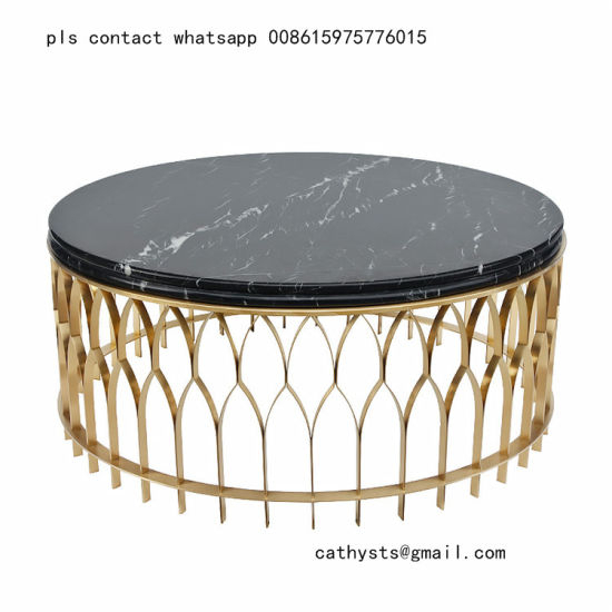 China Mirror Or Brushed Stainless Steel Metal Table Marble With Regard To Dining Tables With Brushed Gold Stainless Finish (Image 9 of 25)