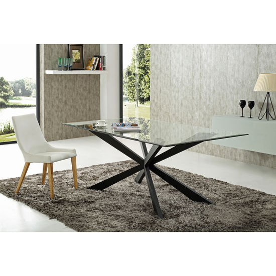 Featured Image of Glass Dining Tables With Metal Legs