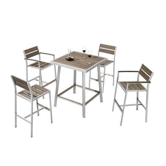 China Restaurant Patio Square Bar Set Garden Outdoor Bistro For Patio Square Bar Dining Tables (View 3 of 25)