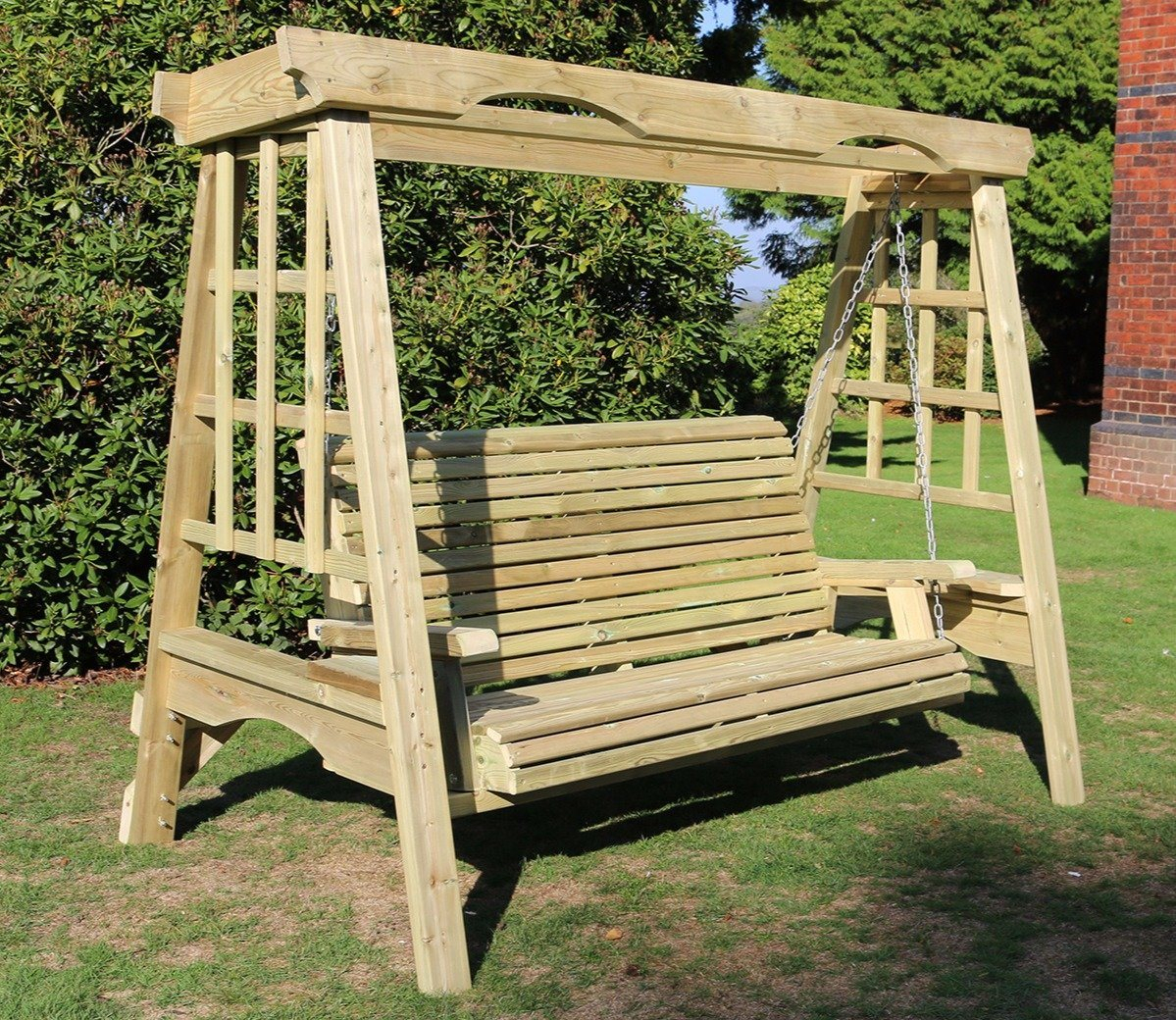 Churnet Valley Cottage 3 Seater Swing Pertaining To 3 Seat Pergola Swings (View 7 of 25)