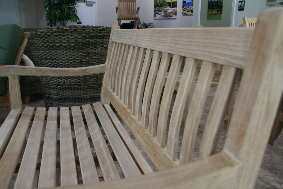 Classic 4' Glider Bench – Douglas Nance Teak Wholesale Intended For Teak Outdoor Glider Benches (View 19 of 25)