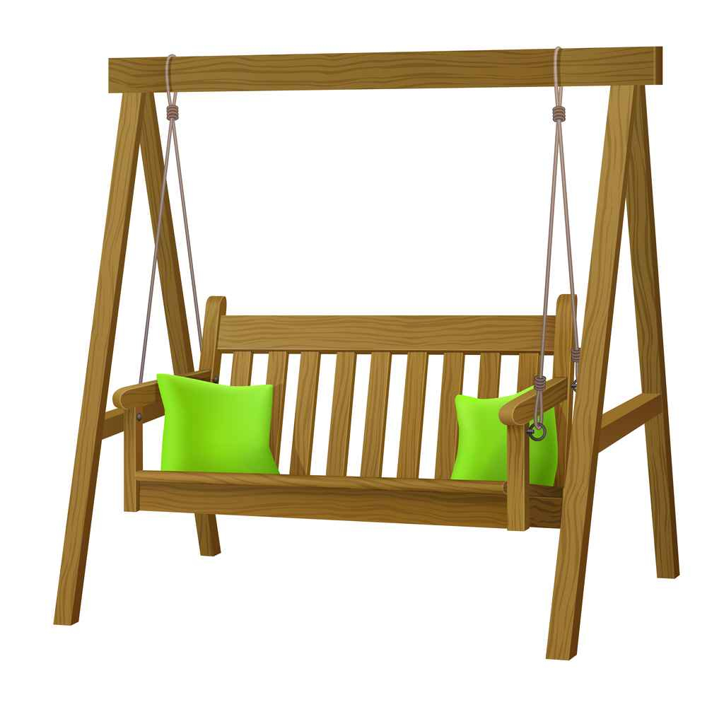 Classic Outdoor Garden Wooden Hanging On Frame Porch Swing Bench Furniture With Outdoor Porch Swings (View 9 of 25)