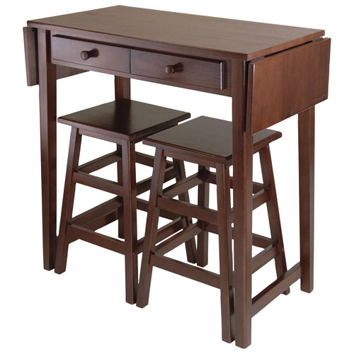 Clayton Transitional 4 Seating Casual Dining Table – Walnut In Transitional 3 Piece Drop Leaf Casual Dining Tables Set (View 15 of 25)