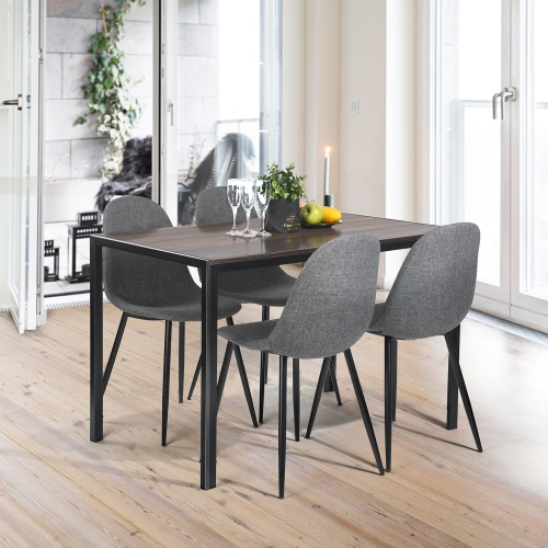 Clayton Transitional 4 Seating Casual Dining Table – Walnut Intended For Transitional 4 Seating Double Drop Leaf Casual Dining Tables (View 25 of 25)