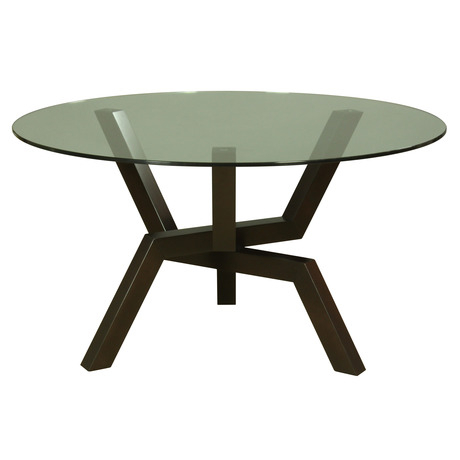 Cleo Round Dining Table Glass Top Within Round Dining Tables With Glass Top (View 2 of 25)