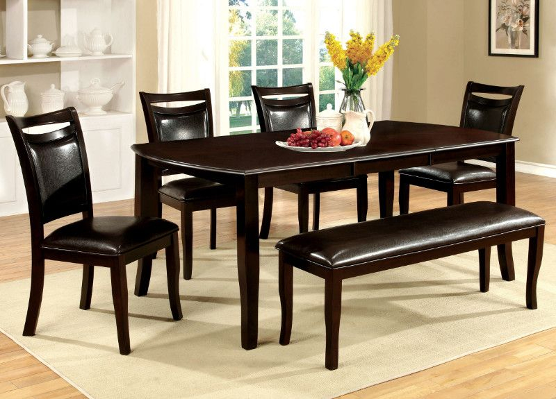 Cm3024T 6Pc 6 Pc Charlton Home Martell Woodside Dark Cherry Within Transitional 6 Seating Casual Dining Tables (Image 8 of 25)