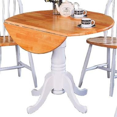 Coaster Furniture Dinettes Natural White Dining Table Intended For Unfinished Drop Leaf Casual Dining Tables (View 11 of 25)