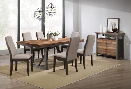 Coaster Spring Creek Collection 106581 83 S8 8 Piece Dining For Coaster Contemporary 6 Seating Rectangular Casual Dining Tables (View 7 of 25)
