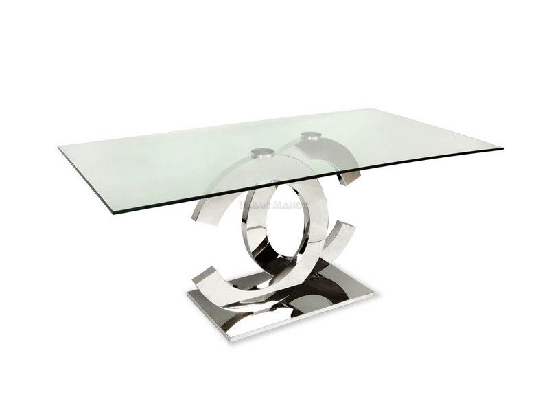 Coco Dining Table: The Very Sleek Mirror Polished Stainless With Regard To Long Dining Tables With Polished Black Stainless Steel Base (View 19 of 25)