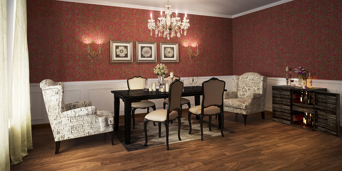 Colonial Dining Room Designs Online: Spanish Classic Design Pertaining To Espresso Finish Wood Classic Design Dining Tables (Image 5 of 25)