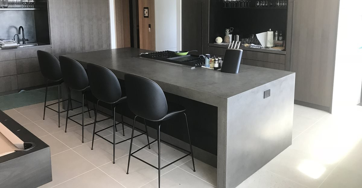 Concrete Countertops – Pros, Cons, Diy & Care – The Concrete Inside Thick White Marble Slab Dining Tables With Weathered Grey Finish (View 21 of 25)