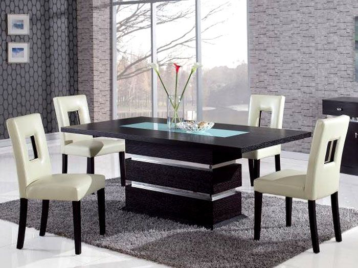 Conflex Rectangle Dining Table With 4 Seater | Pedestal Within Contemporary 4 Seating Oblong Dining Tables (View 2 of 25)