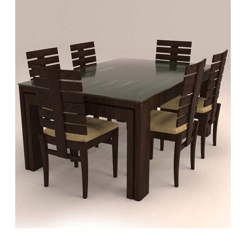 Contemporary 6 Seater Dining Table Set Within 6 Seater Retangular Wood Contemporary Dining Tables (View 18 of 25)