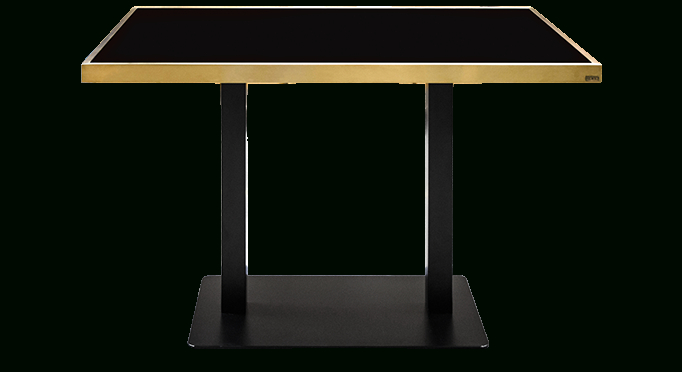 Contemporary Design Furniture, Eclectic Collection | V Lab With Dining Tables With Brushed Gold Stainless Finish (Image 14 of 25)