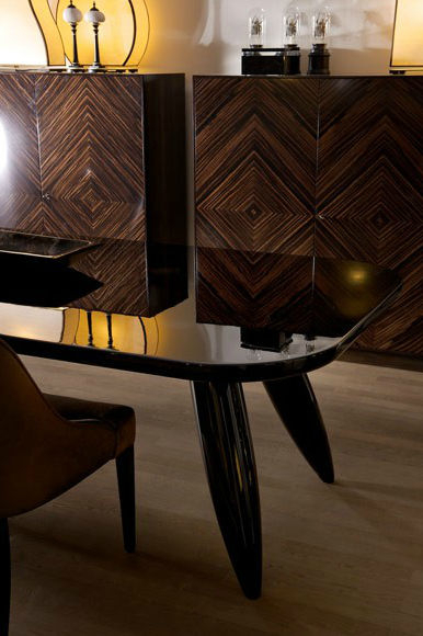 Contemporary Dining Table / Lacquered Wood / Rectangular With Regard To Dom Round Dining Tables (Image 5 of 25)